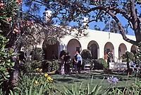 La Jolla Woman's Club, garden party. Irving Gill, architect.Photo Oct. 1999.