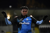 Duvan Zapata of Atalanta BC warms up during the Serie A football match between Spezia Calcio and Atalanta BC at Dino Manuzzi stadium in Cesena (Italy), November 20th, 2020. Photo Andrea Staccioli / Insidefoto