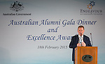 18 Feburary 2015, New Delhi, India: Deputy High Commissioner to India Bernard Philip introducing the Endeavour Awards Ambassadors at the Australian High Commission, New Delhi during the Gala Dinner and presentation ceremony.  Picture by Graham Crouch/DFAT