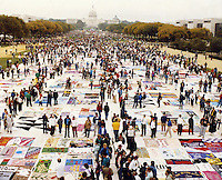 Names Project AIDS Memorial Quilt on display at the National Mall Washington, DC during Gay Rights March 1987