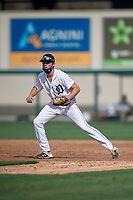 Detroit Tigers first baseman Bryant Packard (22) during a Florida Instructional League game against the Pittsburgh Pirates on October 16, 2020 at Joker Marchant Stadium in Lakeland, Florida.  (Mike Janes/Four Seam Images)