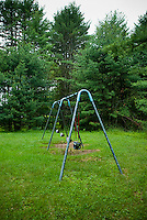Swing set in playground
