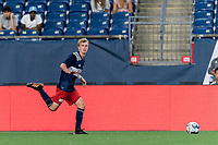 FOXBOROUGH, MA - JULY 23: Sean O'Hearn #40 of New England Revolution II looks to pass during a game between Toronto FC II and New England Revolution II at Gillette Stadium on July 23, 2021 in Foxborough, Massachusetts.