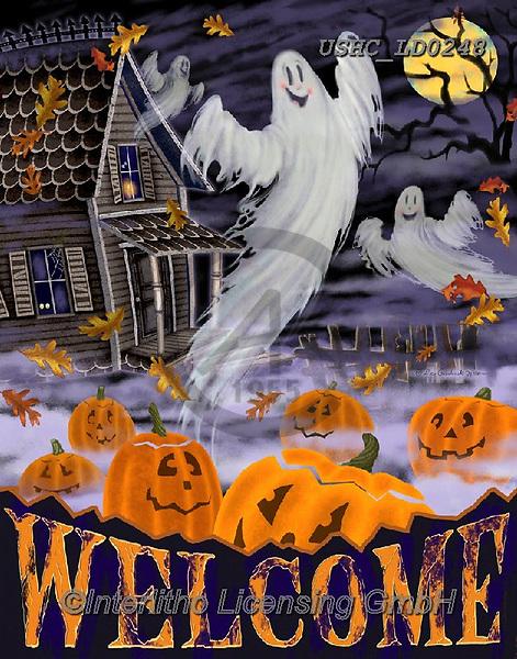 Liz,STILL LIFE STILLEBEN, NATURALEZA MORTA, LizDillon, paintings+++++,USHCLD0248,#I#, EVERYDAY ,halloween,ghosts,pumpkins
