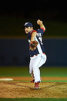Reading Fightin Phils pitcher Stephen Shackleford (34) delivers a pitch during a game against the New Britain Rock Cats on August 7, 2015 at FirstEnergy Stadium in Reading, Pennsylvania.  Reading defeated New Britain 4-3 in ten innings.  (Mike Janes/Four Seam Images)