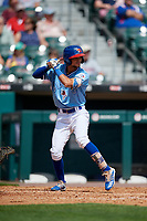 Buffalo Bisons Kevin Vicuna (63) bats during an International League game against the Pawtucket Red Sox on August 25, 2019 at Sahlen Field in Buffalo, New York.  Buffalo defeated Pawtucket 5-4 in 11 innings.  (Mike Janes/Four Seam Images)