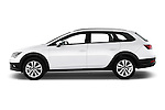 Car Driver side profile view of a 2015 Seat Leon Style Copa 4 Door Hatchback Side View