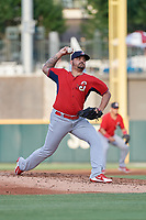 Springfield Cardinals pitcher Williams Perez (21) during a Texas League game against the Frisco RoughRiders on May 6, 2019 at Dr Pepper Ballpark in Frisco, Texas.  (Mike Augustin/Four Seam Images)