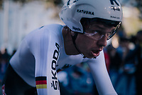 Tony Martin (DEU/Katusha-Alpecin) after finishing<br /> <br /> MEN ELITE INDIVIDUAL TIME TRIAL<br /> Hall-Wattens to Innsbruck: 52.5 km<br /> <br /> UCI 2018 Road World Championships<br /> Innsbruck - Tirol / Austria