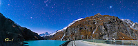 View of the Mauvoisin Dam under the Orion constellation