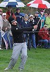 4 October 2008: Jason Day tries to flop a pitch shot on the green during the third round at the Turning Stone Golf Championship in Verona, New York.