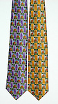 """Guy Buffet 100% Silk Tie<br /> """"Scot on the Rocks""""<br /> $75 includes shipping in Continental US<br /> Specify Color; Purple or Gold<br /> Limited quantities."""
