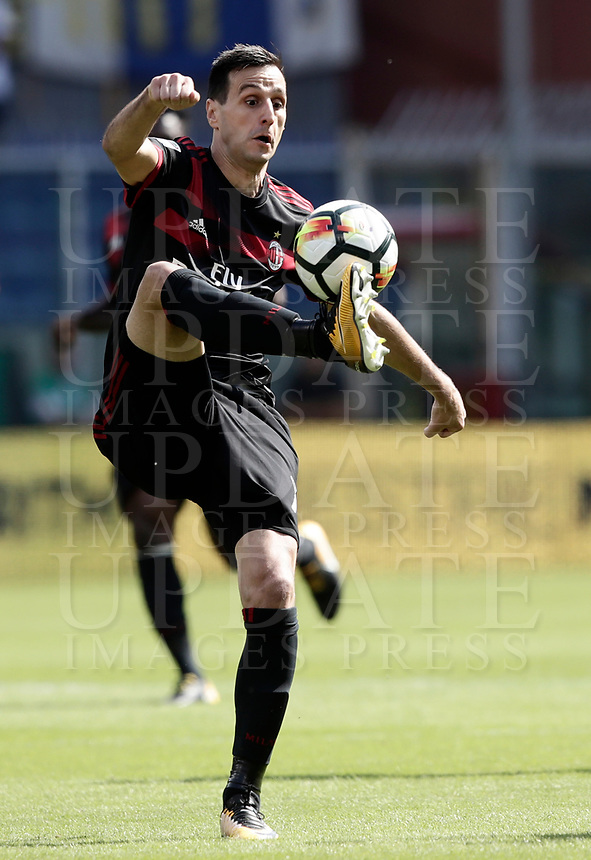 Calcio, Serie A: Genova, Stadio Luigi Ferraris, 24 settembre 2017. <br /> Milan's Nicola Kalinic in action during the Italian Serie A football match between Sampdoria and Milan at Genova's Luigi Ferraris stadium. September 24, 2017.<br /> UPDATE IMAGES PRESS/Isabella Bonotto