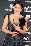 Barbara Lennie win the award at Feroz Awards 2017 in Madrid, Spain. January 23, 2017. (ALTERPHOTOS/BorjaB.Hojas)