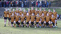RBAI vs R S ARMAGH | Saturday 21st February 2015<br /> <br /> RBAI celebrate after the 2015 Ulster Schools Cup Quarter-Final between RBAI and Royal School Armagh at Osborne Park, Belfast, Northern Ireland.<br /> <br /> Picture credit: John Dickson / DICKSONDIGITAL