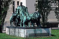 Europe/Autriche/Niederösterreich/Vienne: Sculpture Marc-Antoine près du pavillon de la Sécession