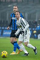inter-juventus - Milano 2 febbraio 2021 - semifinale coppa italia - nella foto: arthur ed eriksen