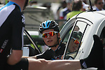 Bernhard Eisel (AUT) Sky Procycling stretches as he chats to team mate Christian Knees (GER) before the start of Stage 1 of the Tour of Qatar 2012 running 142.5km from Barzan Towers to Doha Golf Club, Doha, Qatar. 5th February 2012.<br /> (Photo by Eoin Clarke/NEWSFILE).