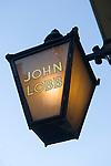 John Lobb, boot and shoe shop sign. St James Street London W1.