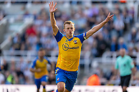 28th August 2021; St James Park, Newcastle upon Tyne, England; EPL Premier League football, Newcastle United versus Southampton; James Ward-Prowse of Southampton celebrates scoring a last minute penalty to make it 2-2