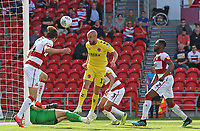 Fleetwood Town's Paddy Madden scores his side's second goal to make it 2-2<br /> <br /> Photographer David Shipman/CameraSport<br /> <br /> The EFL Sky Bet League One - Doncaster Rovers v Fleetwood Town - Saturday 17th August 2019  - Keepmoat Stadium - Doncaster<br /> <br /> World Copyright © 2019 CameraSport. All rights reserved. 43 Linden Ave. Countesthorpe. Leicester. England. LE8 5PG - Tel: +44 (0) 116 277 4147 - admin@camerasport.com - www.camerasport.com