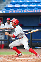 Anthony Gose (24) of the Clearwater Threshers during a game vs. the St. Lucie Mets May 30 2010 at Digital Domain Park, Port St. Lucie Florida. St. Lucie won the game against Clearwater by the score of 3-2. Photo By Scott Jontes/Four Seam Images