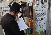 Asie/Israël/Judée/Jérusalem: Quartier Méa Sharim fréquenté par les juifs orthodoxes