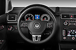 Steering wheel view of a 2010 Volkswagen Touran Highline 5 Door Mini MPV