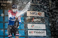 Mathieu Van der Poel (NED/Alpecin-Fenix) wins (the longest) stage 3 from Monticiano to Gualdo Tadino (219km)<br /> <br /> 56th Tirreno-Adriatico 2021 (2.UWT) <br /> <br /> ©kramon