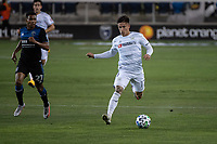 SAN JOSE, CA - NOVEMBER 04: Brian Rodriguez #17 of the Los Angeles FC passes the ball during a game between Los Angeles FC and San Jose Earthquakes at Earthquakes Stadium on November 04, 2020 in San Jose, California.