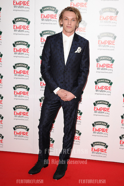 Jamie Campbell Bower<br /> arives for the Empire Magazine Film Awards 2014 at the Grosvenor House Hotel, London. 30/03/2014 Picture by: Steve Vas / Featureflash