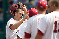 South Carolina's Kyle Enders in Game 7 of the NCAA Division One Men's College World Series on Monday June 22nd, 2010 at Johnny Rosenblatt Stadium in Omaha, Nebraska.  (Photo by Andrew Woolley / Four Seam Images)