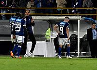 BOGOTÁ - COLOMBIA, 02-09-2018: Los jugadores de Millonarios (COL), se retiran de la cancha luego de perder la clasificación a la siguiente fase, durante partido de vuelta entre Millonarios (COL) y el Independiente Santa Fe (COL), de los octavos de final, llave A por la Copa Conmebol Sudamericana 2018, en el estadio Nemesio Camacho El Campin, de la ciudad de Bogotá.  / The players of Millonarios (COL), retire from the field after losing the classification to the next phase, during a match of the second leg between Millonarios (COL) and Independiente Santa Fe (COL), of the eighth finals, key A for the Conmebol Sudamericana Cup 2018 in the Nemesio Camacho El Campin stadium in Bogota city. Photo: VizzorImage / Luis Ramírez / Staff.