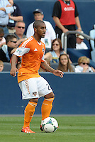 Corey Ashe (26) defender Houston Dynamo in action..Sporting Kansas City and Houston Dynamo played to a 1-1 tie at Sporting Park, Kansas City, Kansas.