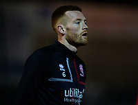 Lincoln City's Cian Bolger during the pre-match warm-up<br /> <br /> Photographer Andrew Vaughan/CameraSport<br /> <br /> The EFL Sky Bet League One - Lincoln City v Milton Keynes Dons - Tuesday 11th February 2020 - LNER Stadium - Lincoln<br /> <br /> World Copyright © 2020 CameraSport. All rights reserved. 43 Linden Ave. Countesthorpe. Leicester. England. LE8 5PG - Tel: +44 (0) 116 277 4147 - admin@camerasport.com - www.camerasport.com