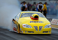 Aug. 19, 2011; Brainerd, MN, USA: NHRA pro stock driver Rodger Brogdon during qualifying for the Lucas Oil Nationals at Brainerd International Raceway. Mandatory Credit: Mark J. Rebilas-