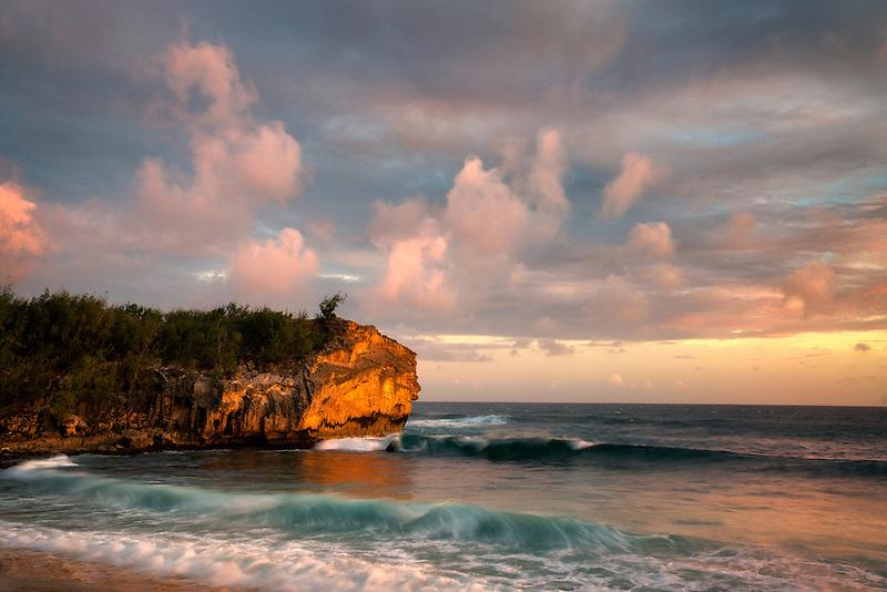 Sunset from Shipwreck Beach. Kauai; Hawaii