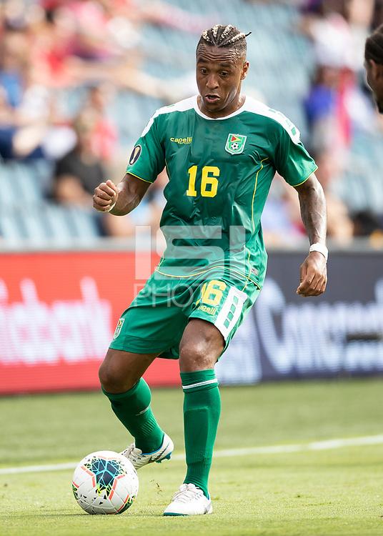 KANSAS CITY, KS - JUNE 26: Neil Danns #16 during a game between Guyana and Trinidad