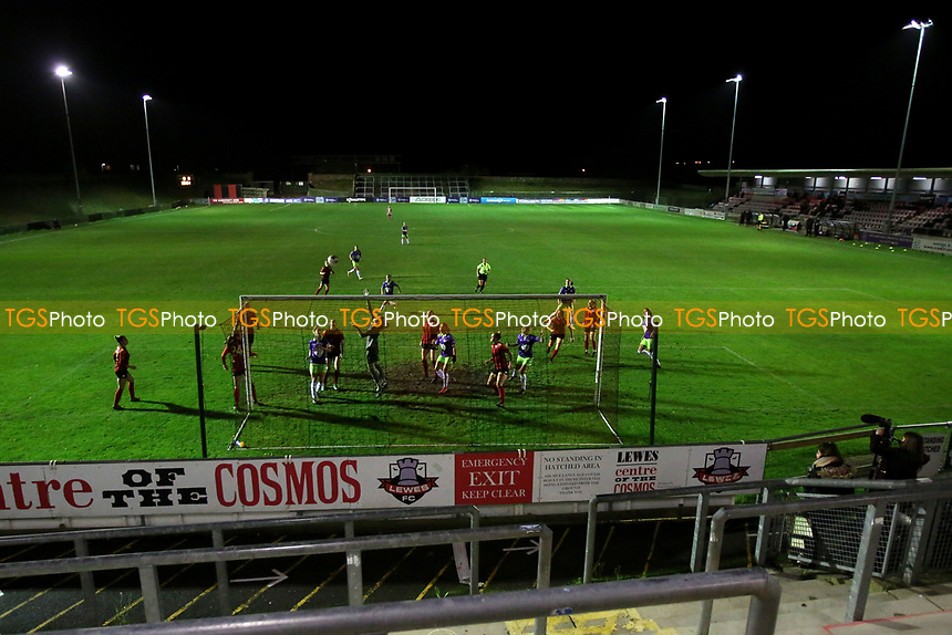 Lewes Women come under pressure from Bristol City Women during Lewes Women vs Bristol City Women, FA Women's Continental League Cup Football at The Dripping Pan on 18th November 2020