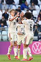 Charles De Ketelaere of Belgium celebrates with team mates after scoring the goal of 2-1 for his side during the Uefa Nations League 3rd and 4th place final football match between Italy and Belgium at Juventus stadium in Torino (Italy), October 10th, 2021. Photo Image Sport / Insidefoto