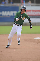 Clinton LumberKings Luis Liberato (2) runs during the Midwest League game against the Beloit Snappers at Ashford University Field on June 12, 2016 in Clinton, Iowa.  The LumberKings won 1-0.  (Dennis Hubbard/Four Seam Images)
