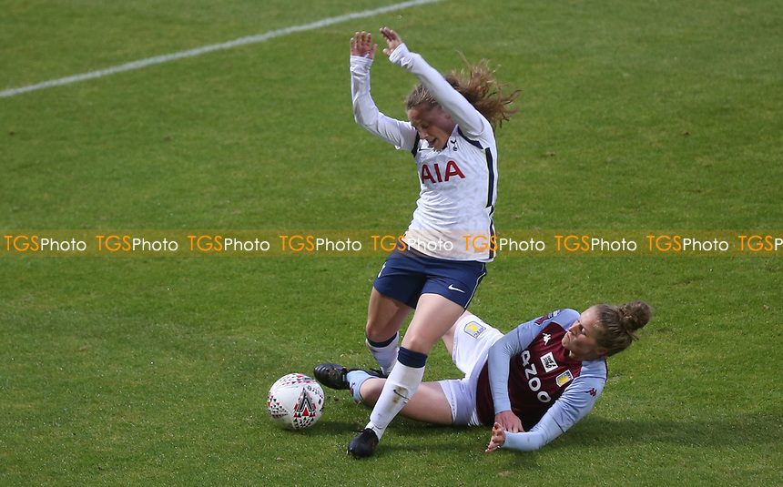 Angela Addison of Tottenham Hotspur taken down in the box but not given as a penalty during Tottenham Hotspur Women vs Aston Villa Women, Barclays FA Women's Super League Football at the Hive Stadium on 13th December 2020