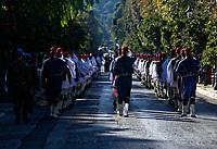 Pictured: Presidential Guards known as Tsoliades<br /> Re: Turkey's president Recep Tayyip Erdogan has begun a landmark visit to Greece. Thursday 07 December 2017