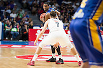 Real Madrid's Luka Doncic and UCAM Murcia's Kelati during the first match of the playoff at Barclaycard Center in Madrid. May 27, 2016. (ALTERPHOTOS/BorjaB.Hojas)