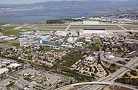aerial photograph Moffett Field, Mountain View, California