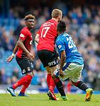 05.05.2018 Rangers v Kilmarnock: Alfredo Morelos and Stuart Findlay