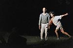 L'ETANG SUSPENDU<br /> <br /> Conception : Vincent Dupont. <br /> Danse : Aline Landreau, Vincent Dupont. <br /> Lumière : Yves Godin<br /> Son : Maxime Fabre<br /> Collaboration artistique : Myriam Lebreton. <br /> Production : J'y pense souvent (…)<br /> Le 07/06/2014<br /> Lieu : Parc Jean-Jacques Rousseau<br /> Ville : Ermenonvile