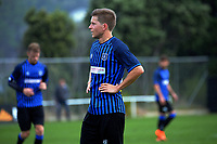 Andy Bevin during the Central League football match between Miramar Rangers and Lower Hutt AFC at David Farrington Park in Wellington, New Zealand on Saturday, 10 April 2021. Photo: Dave Lintott / lintottphoto.co.nz