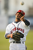 April 17, 2010: Jay Austin of the Lancaster JetHawks before game against the Rancho Cucamonga Quakes at Clear Channel Stadium in Lancaster,CA.  Photo by Larry Goren/Four Seam Images