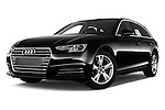 Stock pictures of low aggressive front three quarter view of 2017 Audi A4 Sport 5 Door Wagon Low Aggressive